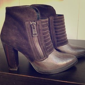 Allsaints suede leather ankle boots